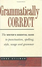 Cover of: Grammatically correct by Anne Stilman