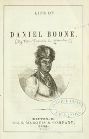 Cover of: Life of Daniel Boone |