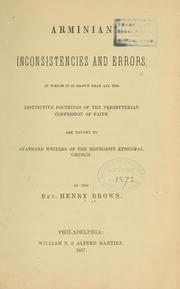 Arminian inconsistencies and errors