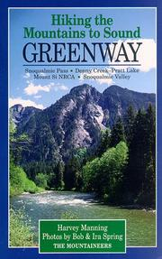Cover of: Hiking the Mountains to Sound Greenway | Harvey Manning
