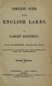 Cover of: A complete guide to the English lakes by Martineau, Harriet