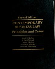 Cover of: Contemporary business law by Ralph Carl Louis Hoeber