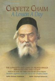 Cover of: Chofetz Chaim: A Lesson a Day | Shimon Finkelman