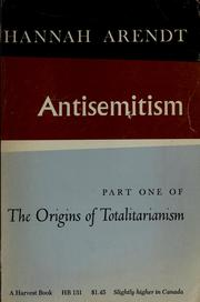 Cover of: The origins of totalitarianism by Hannah Arendt