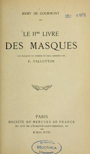 Le IIme livre des masques