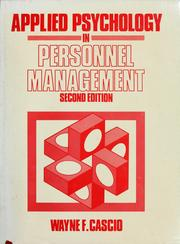 Cover of: Applied psychology in personnel management by Wayne F. Cascio