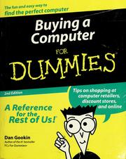 Cover of: Buying a computer for dummies | Dan Gookin