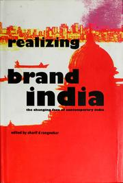Cover of: Realizing Brand India | Sharif d Rangnekar