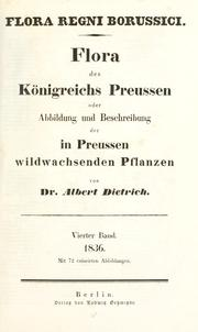 Cover of: Flora regni Borussici by Albert Gottfried Dietrich