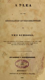 Cover of: A plea for the restoration of the Scriptures to the schools | Robert J. Breckinridge