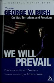 "Cover of: ""We will prevail"" 