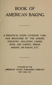 Cover of: Book of American baking by American trade publishing company, New York. [from old catalog]