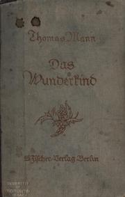 Cover of: Das Wunderkind by Thomas Mann
