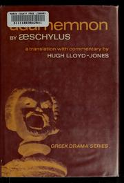 Cover of: Agamemnon by Aeschylus