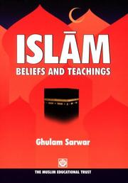 Cover of: Islam Beliefs and Teachings by Ghulam Sarwar