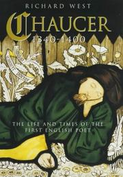 Cover of: Chaucer 1340-1400 | Richard West