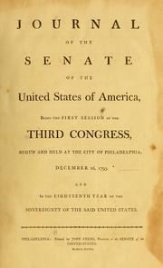 Cover of: Journal // of the // Senate // of the // United States of America by United States. Congress. Senate