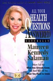 Cover of: All Your Health Questions Answered Naturally | Maureen Kennedy Salaman