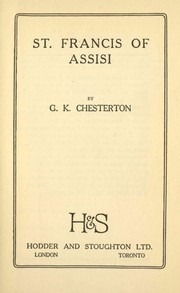 Cover of: St. Francis of Assisi by G. K. Chesterton