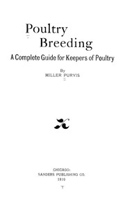Cover of: Poultry breeding | Miller Purvis