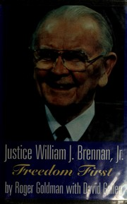 Cover of: Justice William J. Brennan, Jr | Roger L. Goldman