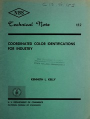 Cover of: Coordinated color identifications for industry by Kenneth Low Kelly