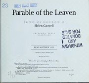 Cover of: Parable of the leaven by Helen Rayburn Caswell