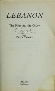 Cover of: Lebanon | Peter Crooks