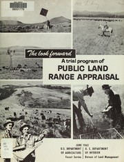 Cover of: Trial program, public land range appraisal | United States. Bureau of Land Management.