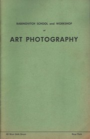 Cover of: Rabinovitch School and Workshop of Art Photography by Rabinovitch