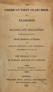 Cover of: The American first class book | Pierpont, John