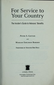 Cover of: For service to your country | Peter S. Gaytan