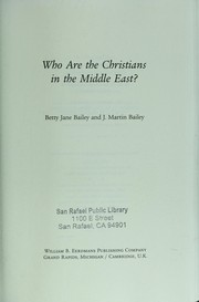 Cover of: Who are the Christians in the Middle East? by