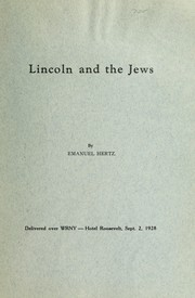 Cover of: Lincoln and the Jews | Emanuel Hertz