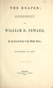Cover of: The reaper | William Henry Seward