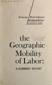 Cover of: The geographic mobility of labor | John B. Lansing