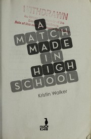 Cover of: A Match Made in High School | Kristin Walker