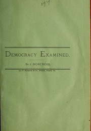 Cover of: Democracy examined |