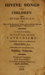 Cover of: Divine songs | Isaac Watts