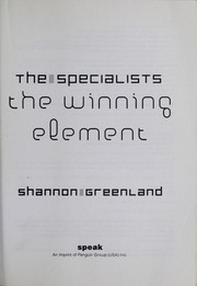 Cover of: The specialists | Shannon Greenland