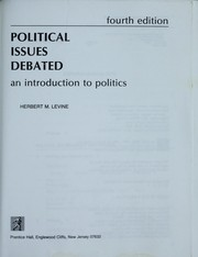 Cover of: Political issues debated | Herbert M. Levine