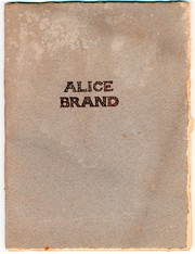 Cover of: Alice Brand | Sir Walter Scott