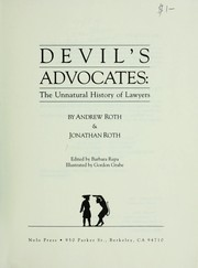 Cover of: Devil's advocates | Roth, Andrew
