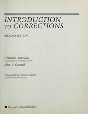 Cover of: Introduction to corrections | Clemens Bartollas