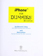 Cover of: iPhone for dummies | Edward C. Baig