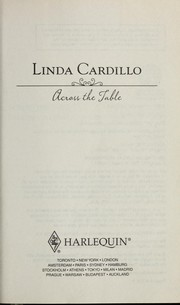 Cover of: Across the table | Linda Cardillo