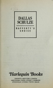 Cover of: Rafferty'S Choice by Dallas Schulze
