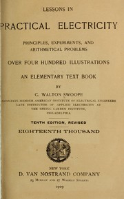 Cover of: Lessons in practical electricity | C. Walton Swoope