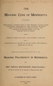 Cover of: Masonic code of Minnesota by Freemasons. Minnesota. Grand Lodge.