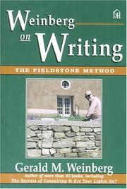 Cover of: Weinberg on writing by Gerald M. Weinberg
